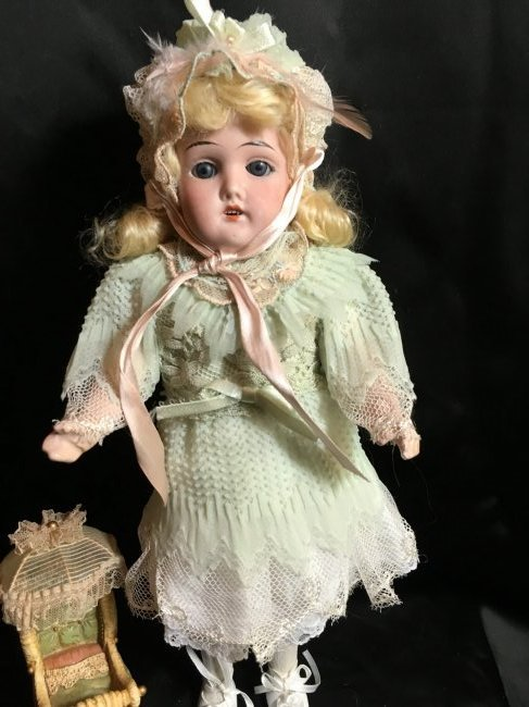 "13"" Antique Bisque Head Doll ~ Gebruder Kuhnlenz~ - 3"