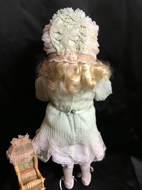 "13"" Antique Bisque Head Doll ~ Gebruder Kuhnlenz~ - 4"