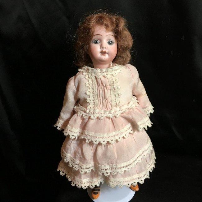 """10"""" Antique Rechnagel Bisque Head Doll"""
