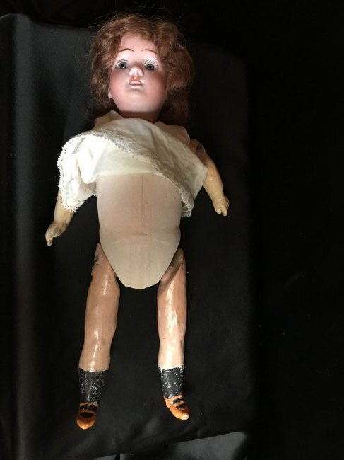 """10"""" Antique Rechnagel Bisque Head Doll - 4"""