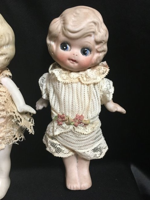 Lot of 3 All Bisque Dolls. - 4