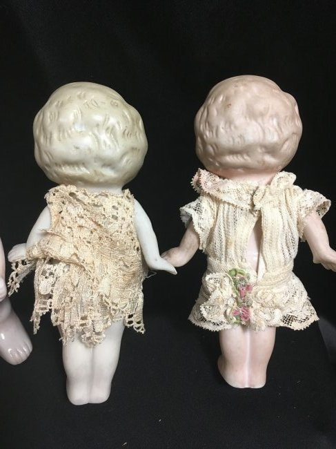 Lot of 3 All Bisque Dolls. - 5