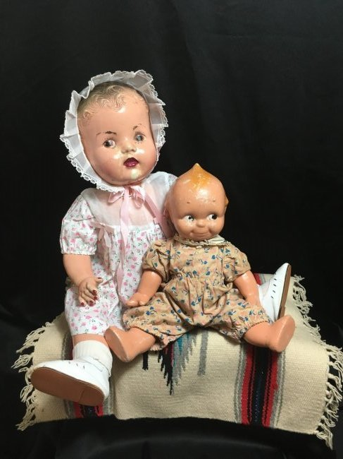Lot of 2 Composition Dolls