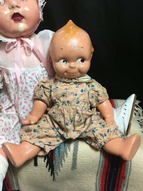 Lot of 2 Composition Dolls - 2