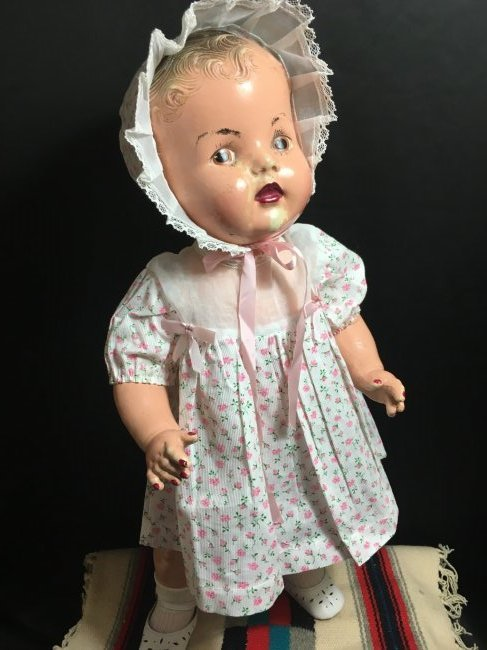 Lot of 2 Composition Dolls - 6