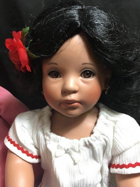 Lot of 2 Porcelain Dolls ~ Danbury Mint Latina Series ~ - 8