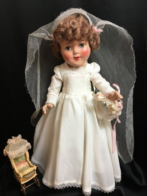 """15"""" Composition  Blushing  Bride Doll from 1950"""