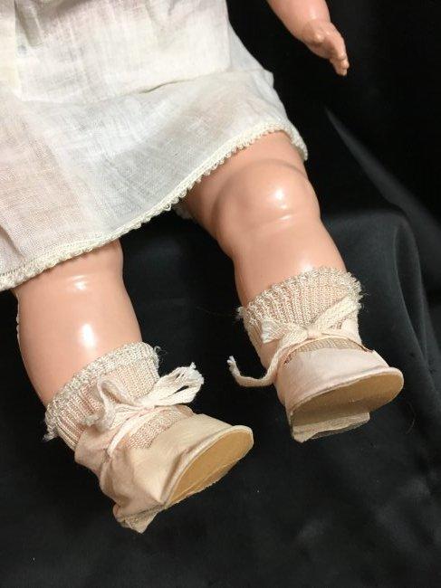 "Rare 22"" 1949 Schilling ~ Talking Doll ~ - 6"