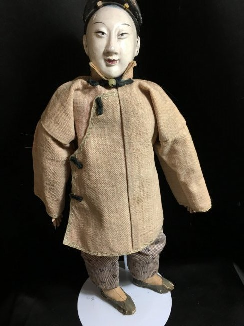 "Rare 1850's Original Oriental Opera Doll ~ 13"""