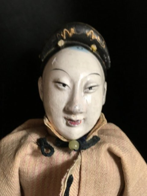"Rare 1850's Original Oriental Opera Doll ~ 13"" - 4"