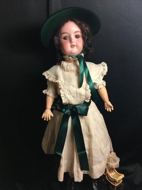 "22 1/2"" Antique Bisque Head Doll ~ 390 A 4 M ~"
