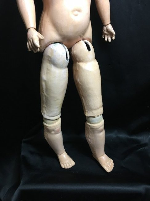 "22 1/2"" Antique Bisque Head Doll ~ 390 A 4 M ~ - 9"