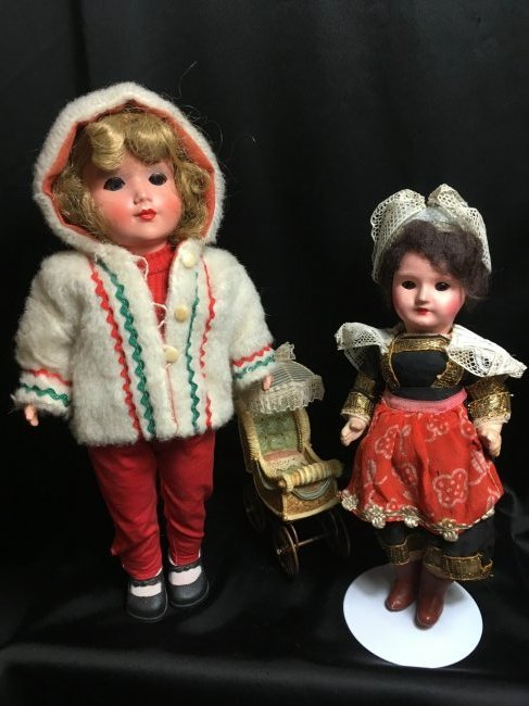 Lot of 2 Sweet Antique/Vintage  Dolls