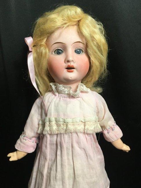 """Precious 14"""" Antique Recknagel Bisque Head Doll - 2"""