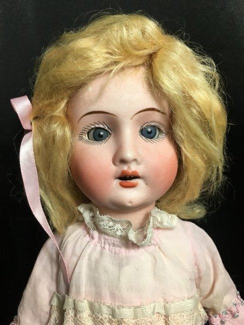 """Precious 14"""" Antique Recknagel Bisque Head Doll - 3"""