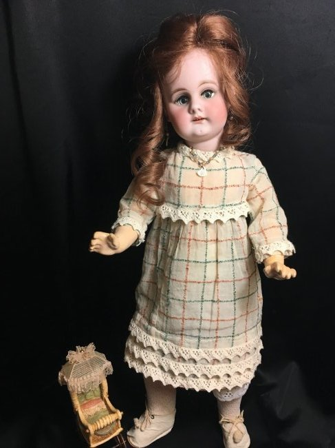"""17.5"""" Antique Bisque Head Character Doll"""