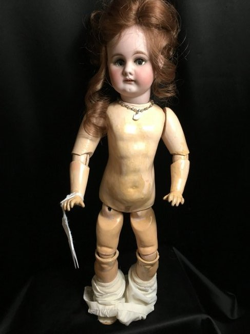 """17.5"""" Antique Bisque Head Character Doll - 6"""