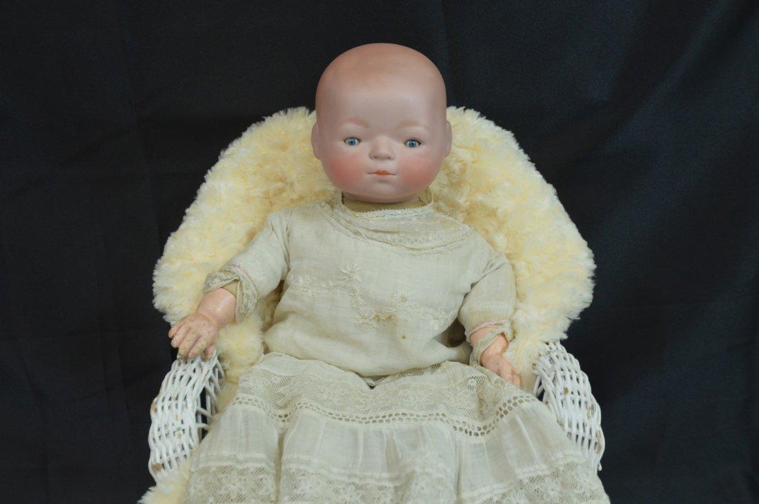 """Antique Newborn Baby ~Ernst Heubach ~ 16"""""""
