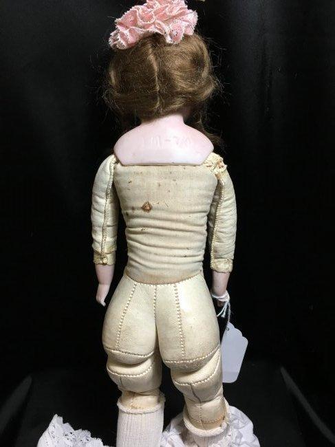 "16"" AM Bisque Shoulder Head w Kid Leather Body - 8"