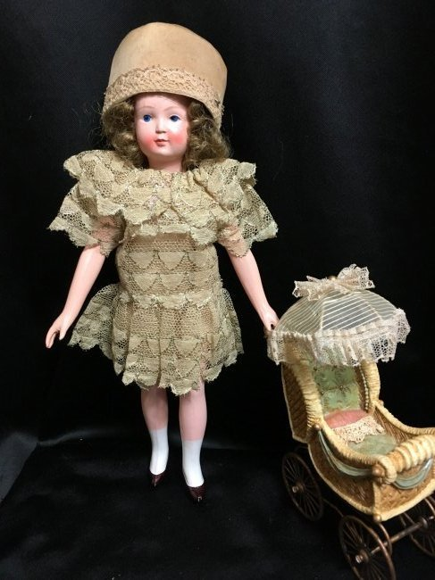 """8.5"""" Unique French Celluloid Doll ~ SNF~"""