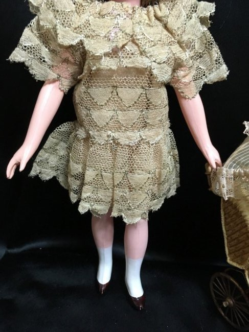 """8.5"""" Unique French Celluloid Doll ~ SNF~ - 3"""