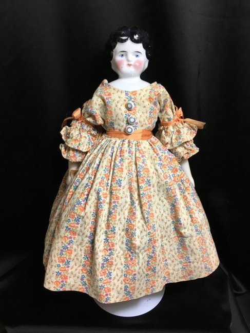 """14 1/2"""" Antique Low Brow China Head"""