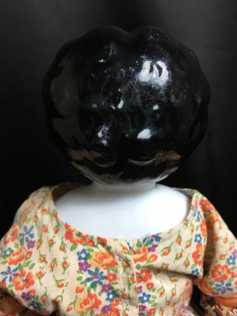 """14 1/2"""" Antique Low Brow China Head - 3"""