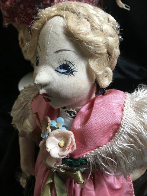 Lot of 5 Antique/Vintage Folk Art Dolls - 10
