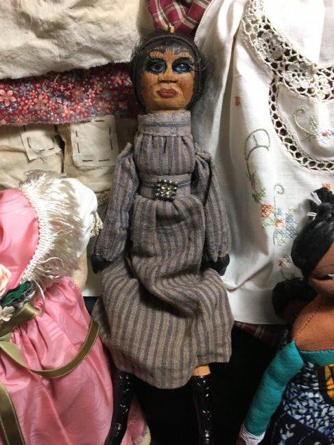 Lot of 5 Antique/Vintage Folk Art Dolls - 3
