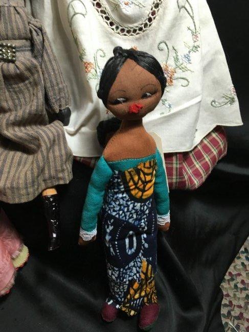 Lot of 5 Antique/Vintage Folk Art Dolls - 4