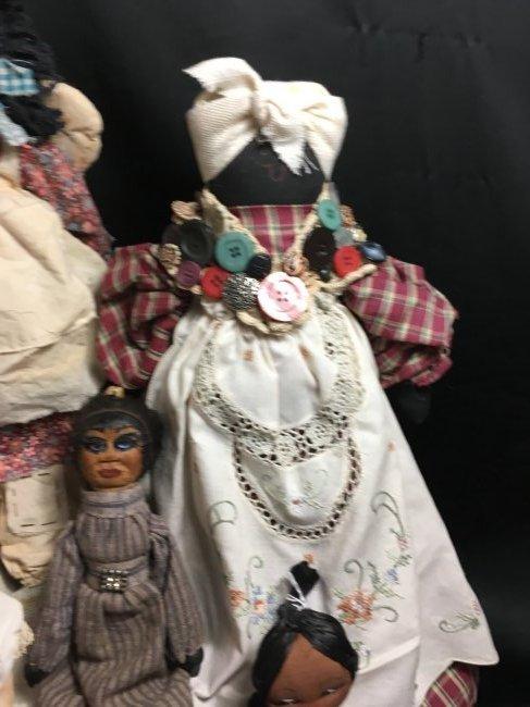 Lot of 5 Antique/Vintage Folk Art Dolls - 5