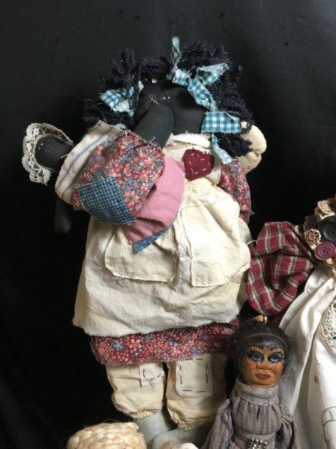 Lot of 5 Antique/Vintage Folk Art Dolls - 6