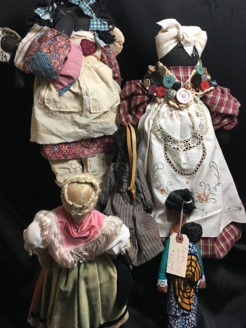 Lot of 5 Antique/Vintage Folk Art Dolls - 7