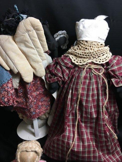 Lot of 5 Antique/Vintage Folk Art Dolls - 8