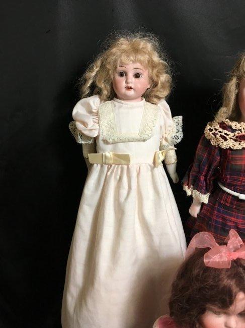 Lot of 3 Antique German Bisque Head Dolls One Original - 2