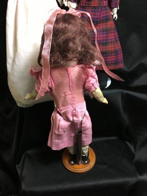 Lot of 3 Antique German Bisque Head Dolls One Original - 6