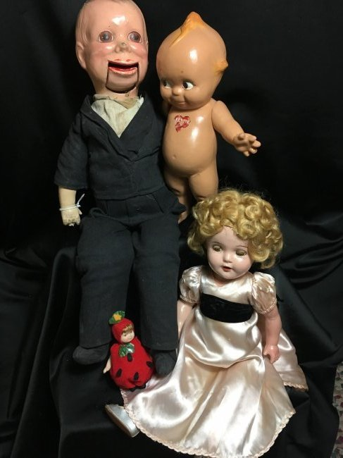 Lot of 3 Composition Dolls 1930's-1940's