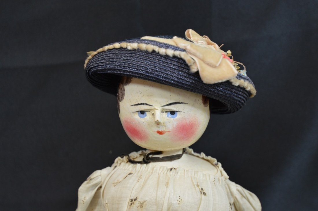 "Peg Head Doll 19 1/2"" - 2"
