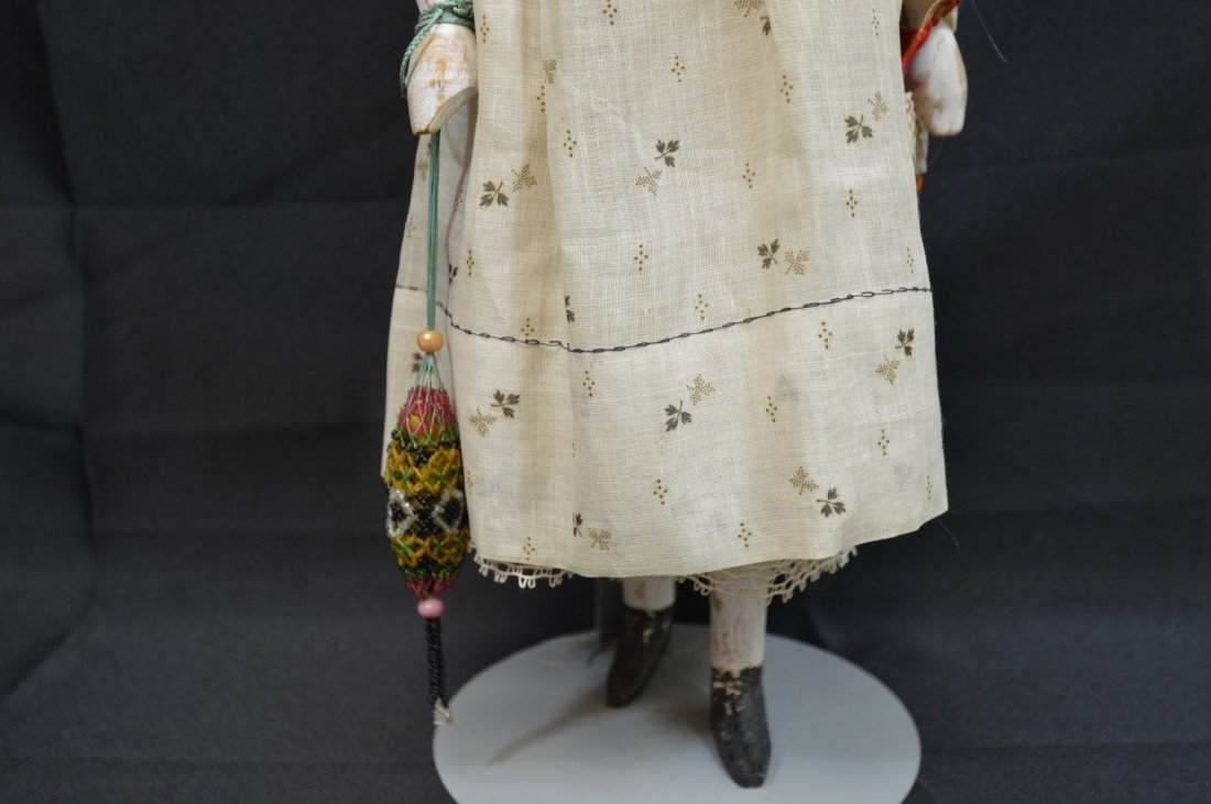 "Peg Head Doll 19 1/2"" - 5"