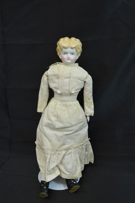 Antique Blonde China Head 22""