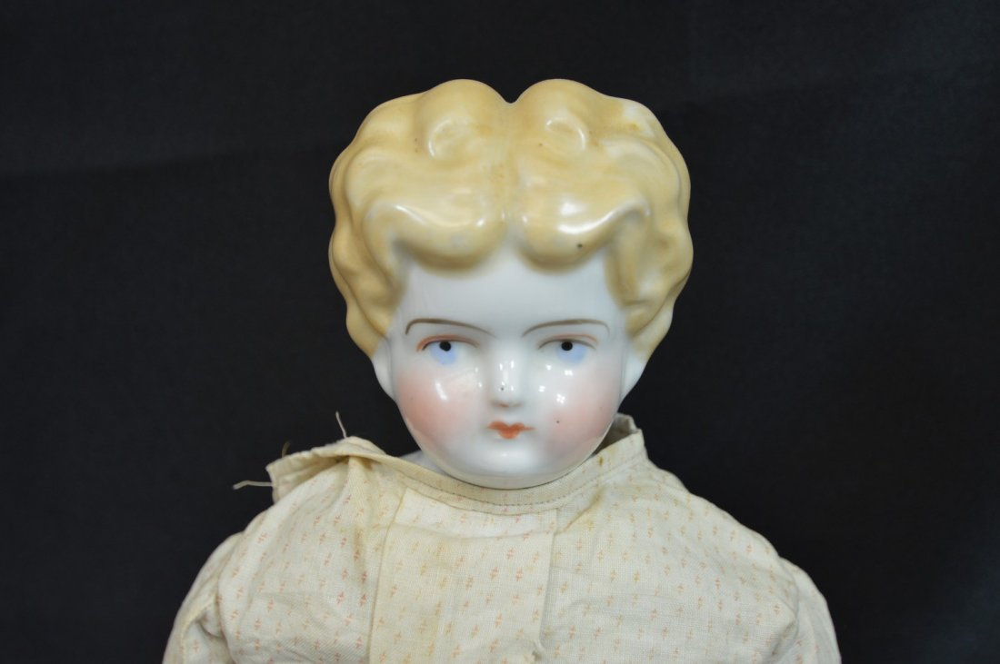 "Antique Blonde China Head 22"" - 2"
