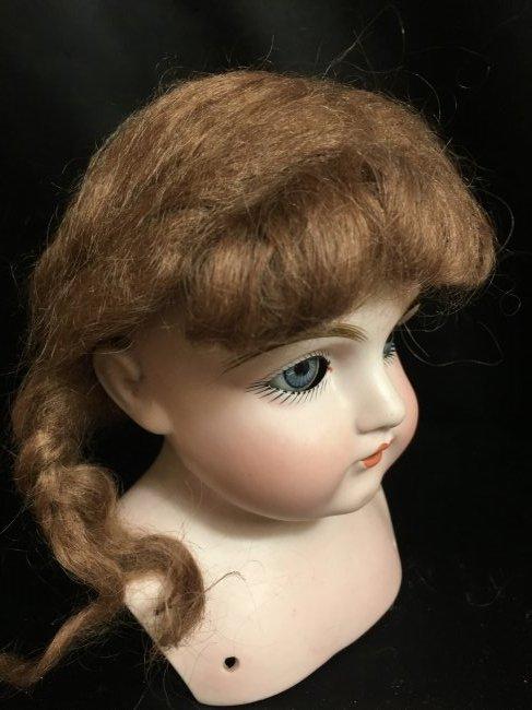 """Antique Auburn Mohair Doll Wig w Braids 10 1/2"""""""