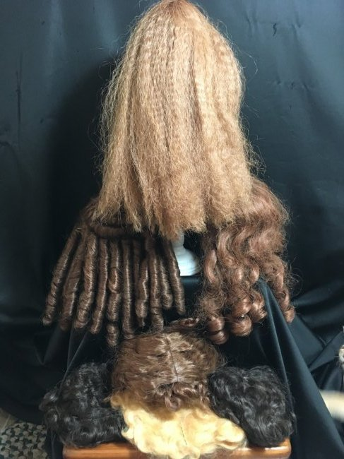 Assorted Vintage Doll Wigs/One Golden Blonde Mohair