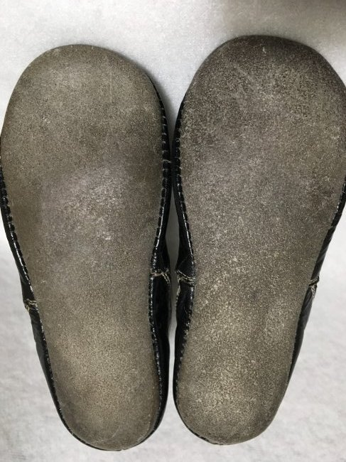 2  Pairs of Antique Leather Doll Shoes for Larger Dolls - 4