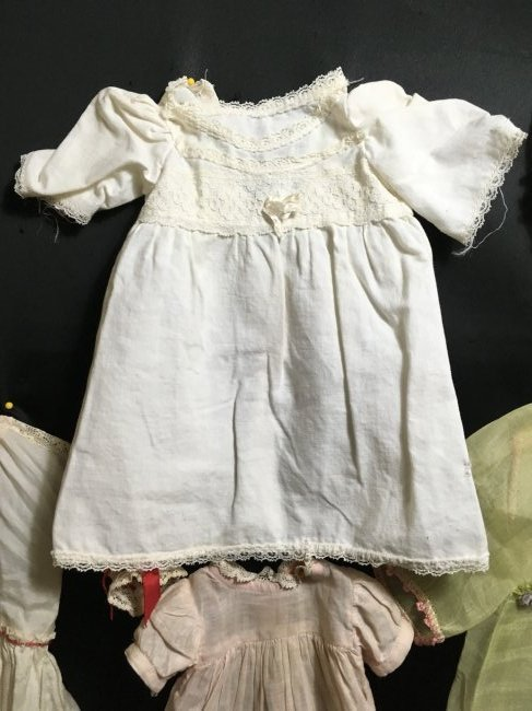 Lot of 6 Vintage Doll Dresses One is Factory - 4
