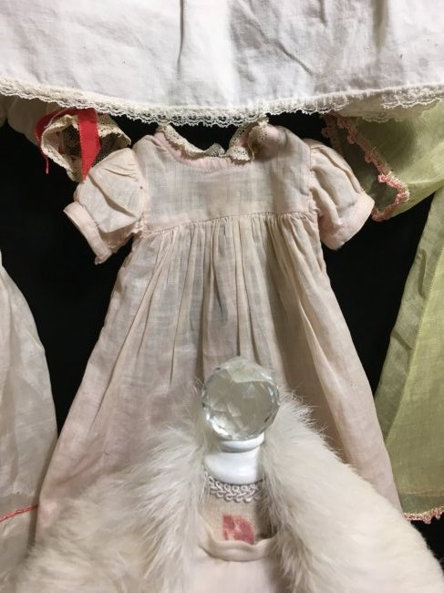 Lot of 6 Vintage Doll Dresses One is Factory - 5