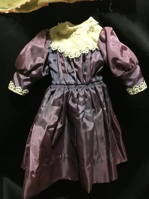 Lot of 6 Vintage Doll Dresses One is Factory - 7