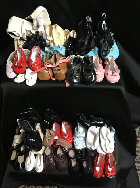 Lot of 30 Vintage Doll Shoes Many Are New
