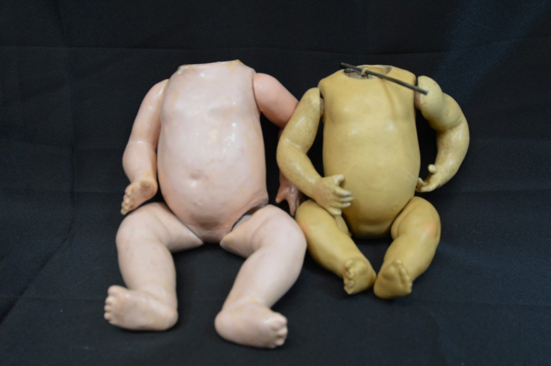 Lot of 2 Antique Composition 5Pc Bent Limb Baby Bodies