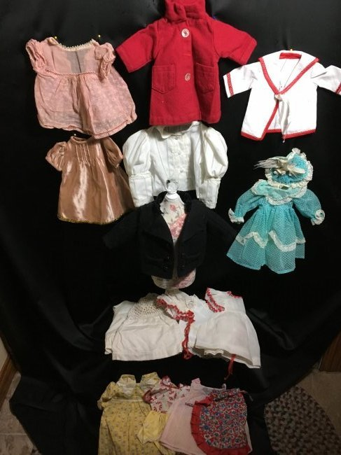 Lot of 16 Pcs Antique/Vintage Doll Clothing